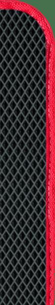 שטיח הרכב שחור ומסגרת אדומה
