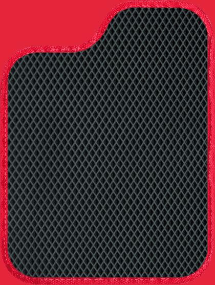 שטיח שחור וצבע מסגרת אדום לסימון יתרונות של שטיחי SASA