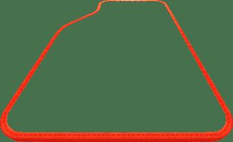 תמונה לסימון צבע אדום למסגרת השטיח לרכב