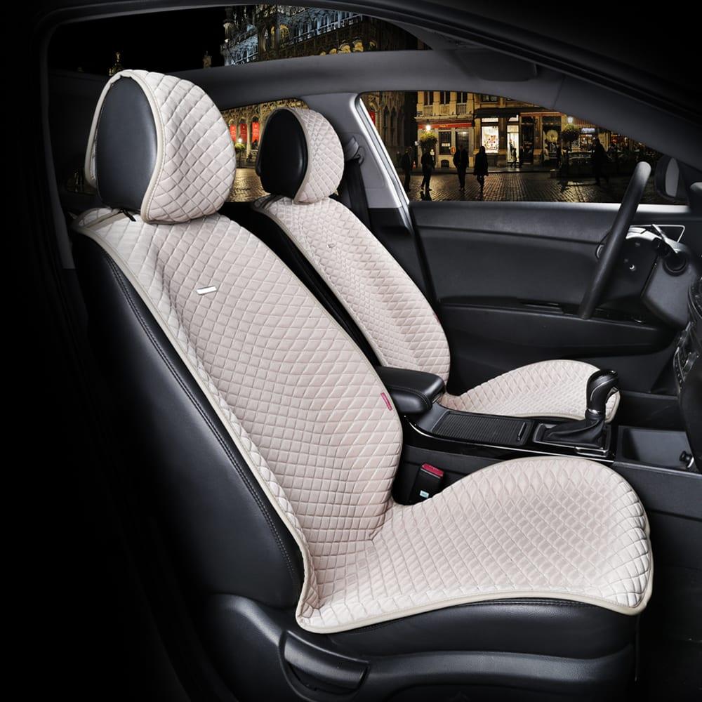 כיסוי מושבים לרכב בצבע בז'