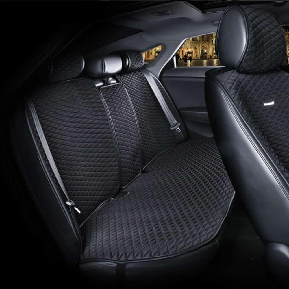 כיסוי מושבים לרכב בצבע שחור | סט מלא של כיסוי מושבים לרכב 5 מושבים