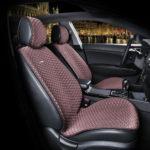 כיסוי מושבים לרכב בצבע חום