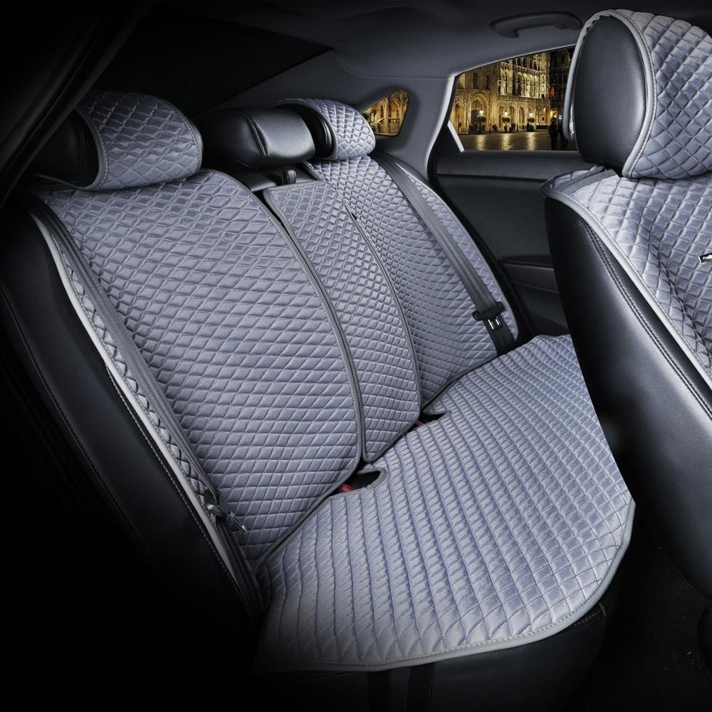 כיסוי מושבים לרכב בצבע אפור | סט מלא של כיסוי מושבים לרכב 5 מושבים